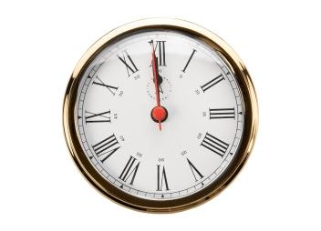 Horloge à quartz ATLANTIC 95 / chiffres arabes / plaquée or