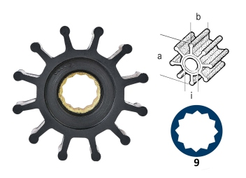 Turbine / néoprène / 12 pales / type 9