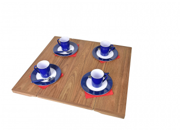 Plateau de table en teck pliant
