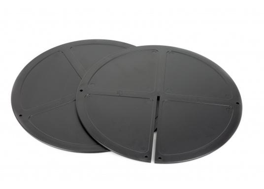 Boule de mouillage en plastique noir. Elles peuvent être pliées et empilées pour être facilement rangées. À utiliser au mouillage en journée.  (Image 4 de 4)