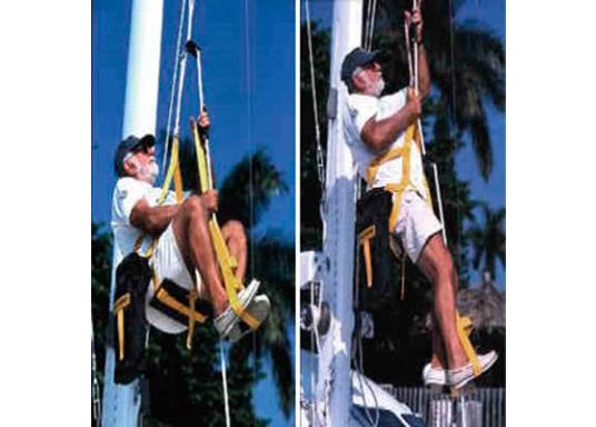 Topclimber® permet de monter seul au mât avec une chaise. Utilisation facile. Charge de travail maxi : 200 kg  (Image 9 de 9)