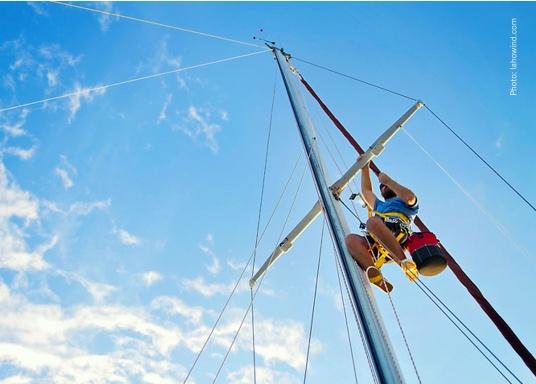 Topclimber® permet de monter seul au mât avec une chaise. Utilisation facile. Charge de travail maxi : 200 kg  (Image 2 de 9)