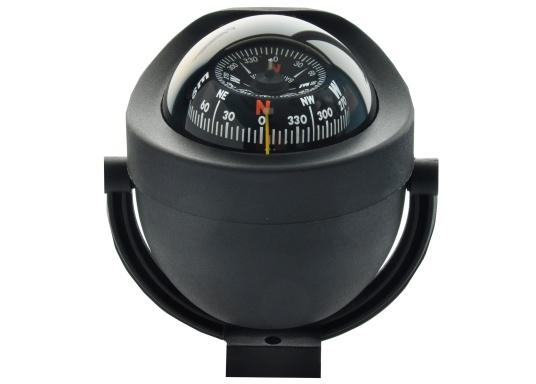 Ce compas de route moderne pour bateaux à moteur ou voiliers. Rose conique. Ce compas est rétroéclairage (12/24 Volts). Etrier de montage fourni.  (Image 1 de 1)