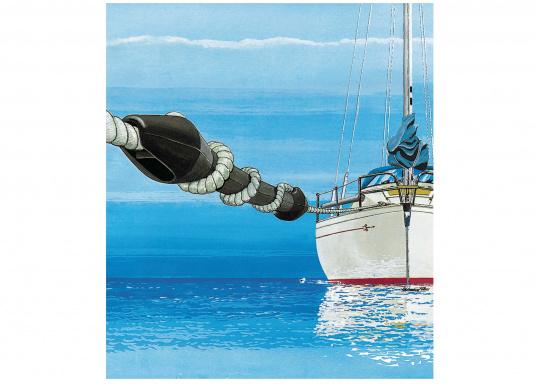 Protèger le cordage et le bateau! Ces amortisseurs d'amarres en caoutchouc EPDM sont déstinés à des charges importantes. La dureté de l'amortisseur peut être ajustée facilement  (Image 4 de 4)