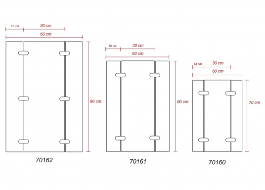 Plateau en teck. Disponible en plusieurs dimensions. Charnières Inox (Image 3 de 3)