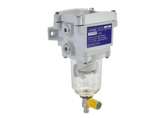 Le SEPAR SWK 2000 est un filtre séparateur pour diesel. Il a été testé GL, Lloyds, RINA et TÜV. Plusieurs versions sont disponibles.  (Image 1 de 2)