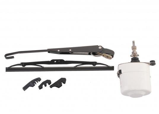 Kit d'essuie-glaces électriques. Comprend le moteur avec boîtier inox. Disponibles en 12 ou 24 volts.  (Image 2 de 6)