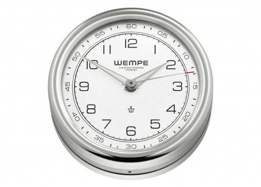 Cette horloge de 100 mm à quartz à l'élégance intemporelle est la pièce maîtresse de la gamme PILOT V de WEMPE. (Image 1 de 1)