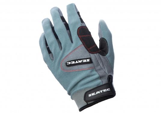 Ces gants sont faits pour affronter les conditions extrêmes. Des doubles renforts aux doigts et aux paumes limitent l'usure. Doigts longs. (Image 1 de 5)