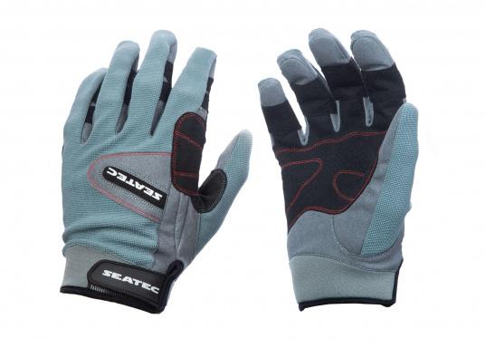 Ces gants sont faits pour affronter les conditions extrêmes. Des doubles renforts aux doigts et aux paumes limitent l'usure. Doigts longs. (Image 4 de 5)