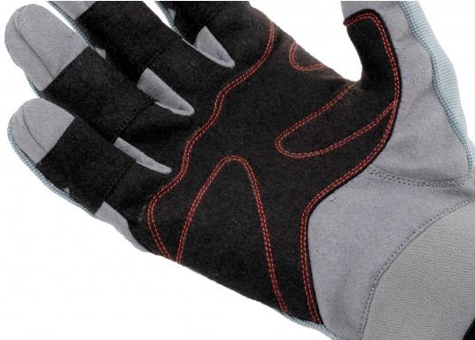 Ces gants sont faits pour affronter les conditions extrêmes. Des doubles renforts aux doigts et aux paumes limitent l'usure. Doigts longs. (Image 5 de 5)
