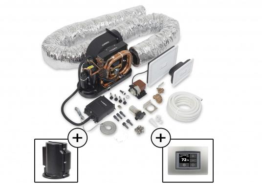 Système d'air conditionné complet, compact et livré prêt à l'installation. Il comprend une isolasion acoustique et un pupitre de contrôle à écran tactile. (Image 1 de 6)