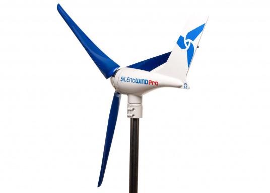 Cette éolienne est conçue par des marins pour des marins. Elle se caractérise par une grande performance, même par vent faible. Tension : 12 V. (Image 2 de 7)