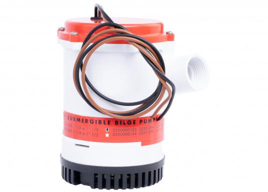 Ces pompes haute performance sont particulièrement durables et faciles à installer. Parfaitement adaptées à de grands bateaux à voile ou à moteur ou pour la marine marchande. Le boîtier en plastique résiste aux chocs. (Image 2 de 2)