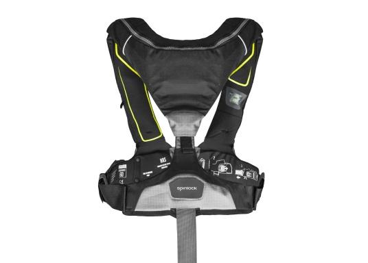 Le gilet 6D de Spinlock conjugue confort avec fonctionnalité et il est parfait pour être porté pendant de longues périodes. Équippé d'un feu LED clignotant, d'une capuche à large visière, d'une sous-cutale, d'un sifflet et d'un grand anneau textile pour frapper la longe.Le dessin de ce modèle vous laisse libre de vos mouvements. Pour femmes et hommes de plus de 50 kg. Flottabilité : 275 N. (Image 3 de 7)