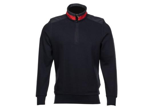 Pull marin classique pour homme, haut de gamme, en 100% coton haute qualité. Le pull DAVINCI donne cet élégant air marin grâce à la bande contrastée sur le col en nylon de haute qualité, avec une couture en zig-zag. (Image 4 de 7)