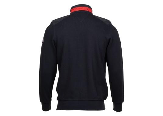 Pull marin classique pour homme, haut de gamme, en 100% coton haute qualité. Le pull DAVINCI donne cet élégant air marin grâce à la bande contrastée sur le col en nylon de haute qualité, avec une couture en zig-zag. (Image 6 de 7)