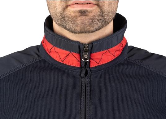 Pull marin classique pour homme, haut de gamme, en 100% coton haute qualité. Le pull DAVINCI donne cet élégant air marin grâce à la bande contrastée sur le col en nylon de haute qualité, avec une couture en zig-zag. (Image 7 de 7)
