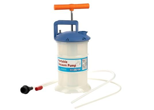Pompe de vidange universelle, facile à utiliser, pour huiles, eau et autres liquides. Actionnez la pompe en élevant et en abaissant la poignée. En quelques instants, un vide se créé qui aspire le liquide dans le réceptacle de la pompe. Volume : 2,7 l. (Image 1 de 5)