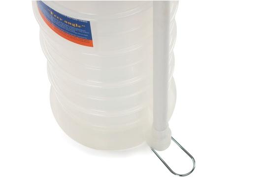 Pompe de vidange universelle, facile à utiliser, pour huiles, eau et autres liquides. Actionnez la pompe en élevant et en abaissant la poignée. En quelques instants, un vide se créé qui aspire le liquide dans le réceptacle de la pompe. Volume : 10,5 litres. (Image 4 de 5)
