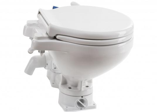 Un design intemporel avec la toute dernière technologie ! Cuvette en porcelaine de chine, lunette et abattant en PVC.  (Image 2 de 7)