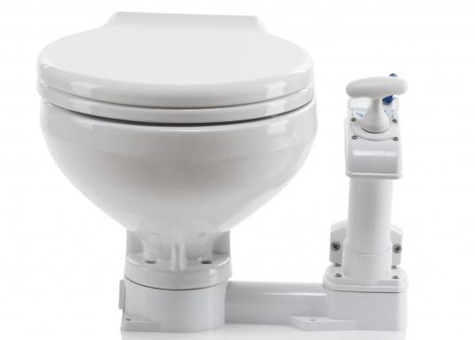 Un design intemporel avec la toute dernière technologie ! Cuvette en porcelaine de chine, lunette et abattant en PVC.  (Image 3 de 7)