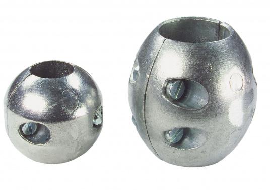 Les anodes noix d'arbre en zinc sont disponibles en plusieurs dimensions. Les anodes sont à remplacer chaque saison au minimum.  (Image 1 de 3)